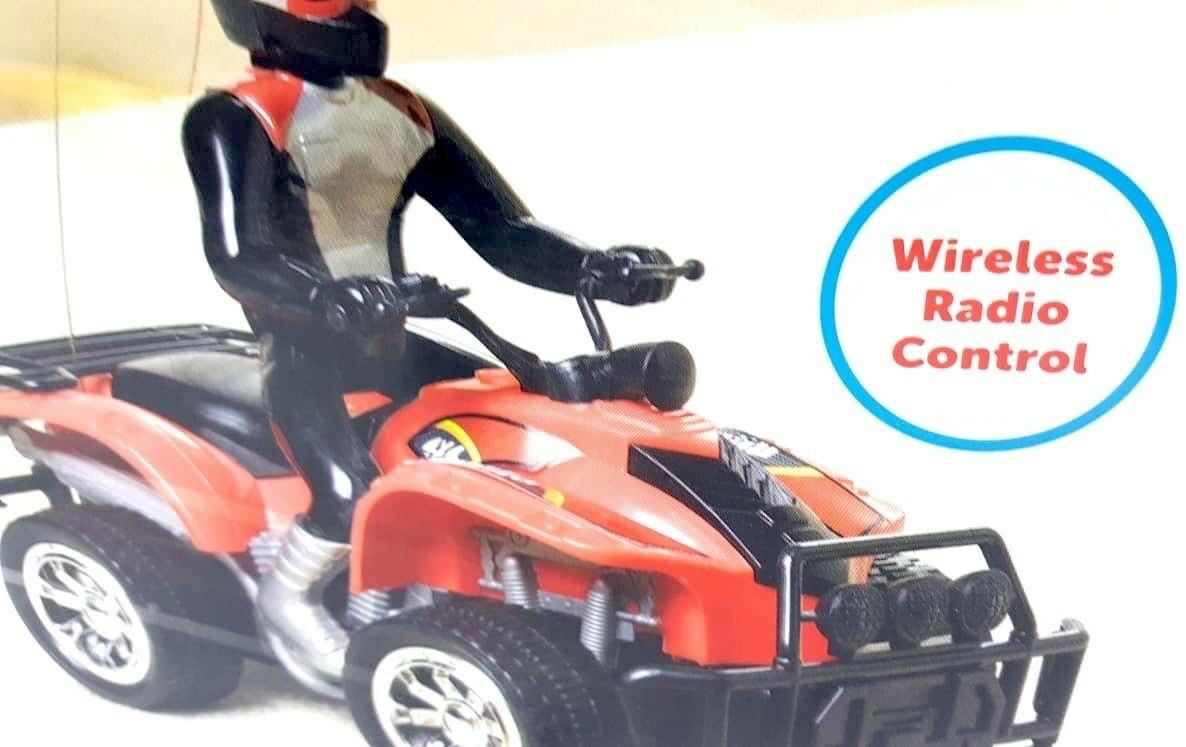 ¡WHIT WIRELESS¡ AGE 3+OVER KID CONNECTION RADIO-CONTROLLED ATV RED