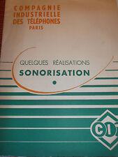 CATALOGUE COMPAGNIE INDUSTRIELLE DES TÉLÉPHONES SONORISATION  (ref 35 )