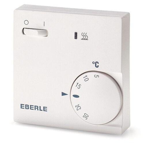 EBERLE Raumtemperaturregler für Fußbodenheizung Aufputz RTR-E 6202 mit Schalter