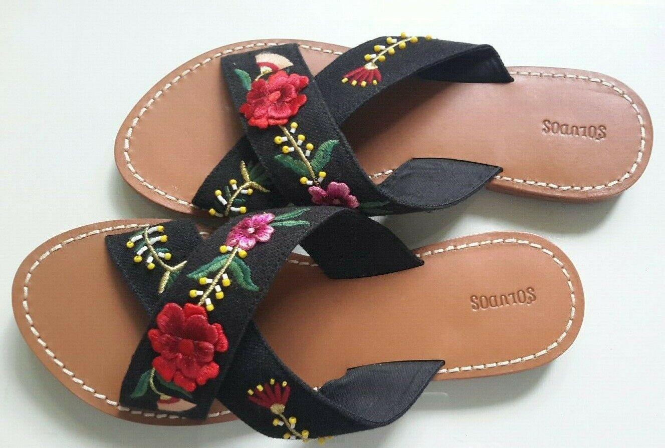 New  Beautiful Soludos Emellited Floral Sandal Dimensione 10  risparmia il 60% di sconto