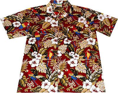 "100/% cotton Mens Hawaian Shirts Hawaiian Shirt /""Hawaiian Parrots/"" 2XL+3XL"