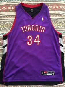 check out 558c9 c032d Details about VTG🔥 Nike NBA Toronto Raptors Hakeem Olajuwon Authentic Sewn  Jersey Sz 56 Satin