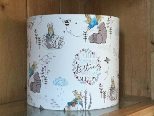 Peter Rabbit Nursery abat-jour 20//30cm baby Cadeau 100/% coton