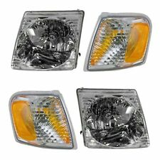 01-05 Ford Exporter Sport Trac Headlight Park Light  Combo Kit 4PC