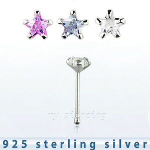 22g-3mm-Star-CZ-Prong-Set-Nose-Bone-925-Sterling-Silver-Nose-Ring-Stud-1pc