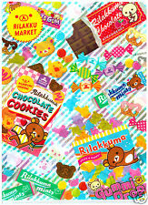 San-x Rilakumma Market Candy Mix Kawaii Plastic File Folder