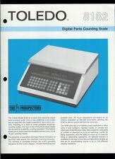 Rare Vintage Original Toledo Scale Brochure: 8182 Digital Parts Counting Scale