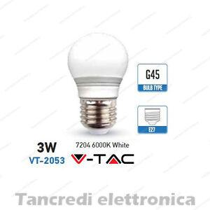 Lampadina-led-V-TAC-3W-25W-E27-bianco-freddo-6000K-VT-2053-miniglobo-G45-bulbo