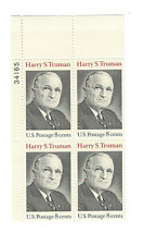 Scott #1499... 8 Cent...Truman... 10 Plate Blocks...40 Stamps