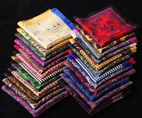 RA Handkerchief 100% Natural Silk Satin Mens Hanky Wedding Party Pocket Square