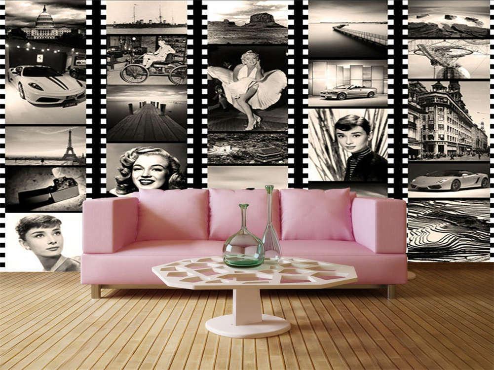 Sexy Goddess Monroe 3D Full Wall Mural Photo Wallpaper Printing Home Kids Decor
