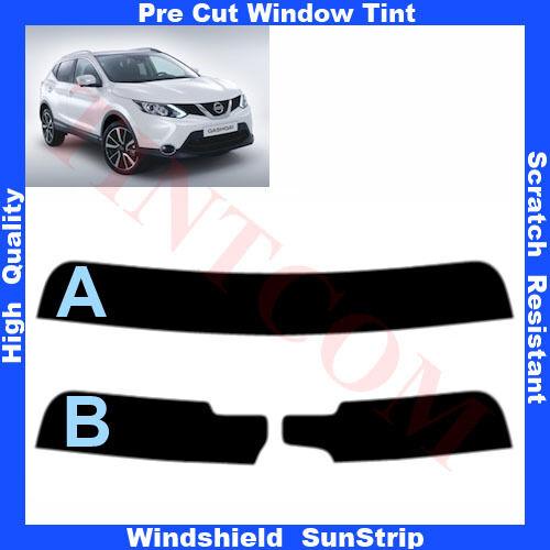 Pre Cut Window Tint Sunstrip for Nissan Qashqai 5 Doors 2013-... Any Shade