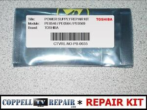 Details about REPAIR KIT FOR TOSHIBA PE0626 / PE0626C POWER SUPPLY - SOUND,  NO IMAGE PROBLEM