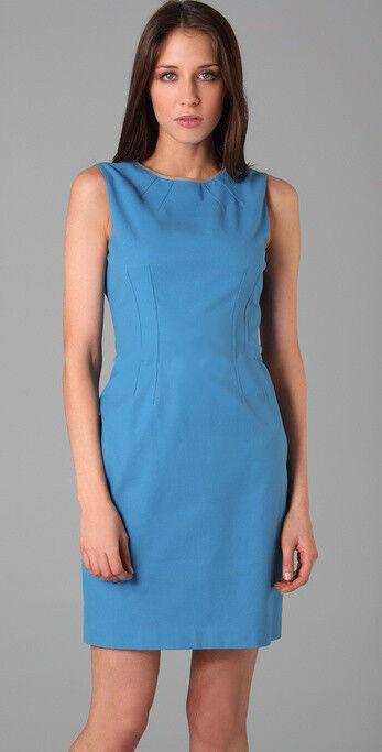 368 Elie Tahari Emory Island bluee bluee bluee Stretch Cotton Sleeveless Dress 12 e5d7f8