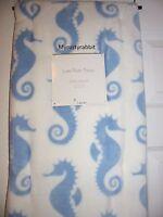 Seahorse Plush Throw Blanket - Polyester 50x70 White & Blue - Ocean -