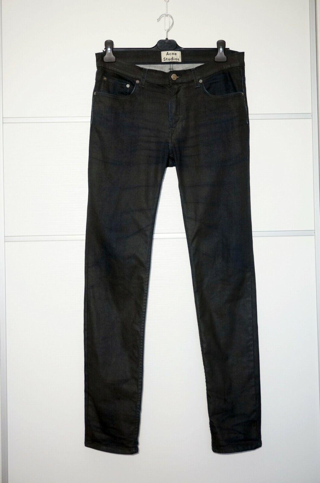 Acne Studios Graphite bluee Ace Commander Straight Jeans, Size 34 34