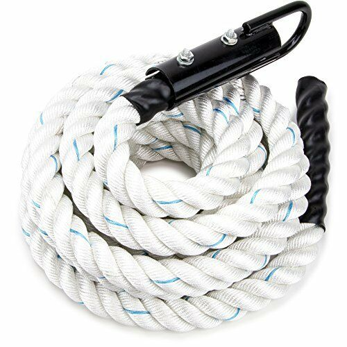 White Poly Dac Gym Climbing Rope    Knotless for Crossfit, Fitness Exercise  here has the latest