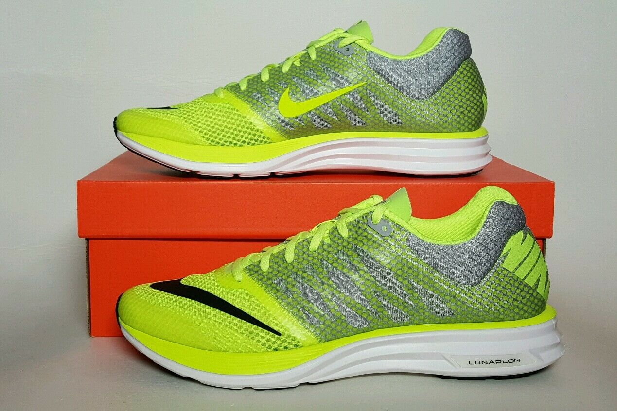 NIKE LUNARSPEED+ MEN'S VOLT/WHITE/GREY SIZE 11.5 NEW/BOX 554682 710  Cheap women's shoes women's shoes