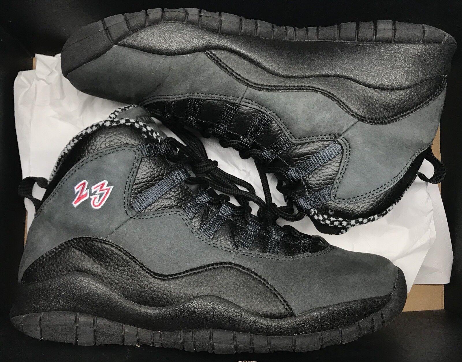 Jordan Retro X 10 Shadow CDP Black Grey Red Stealth 310805-061 Sz 9