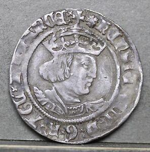 Henry VIII Silver Groat, Laker Bust, mm Rose; 1526. S2337C VF