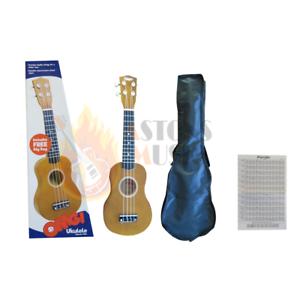 Omg Traditional Soprano Ukulele With Travel Bag Ebay