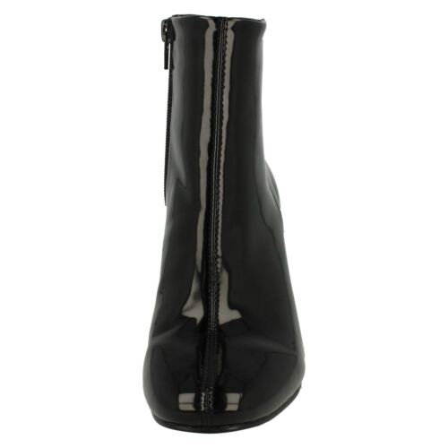 WOMENS LADIES F5R0596 ZIP CLASSIC CASUAL HEELED ANKLE BOOTS SIZE SPOT ON £19.99