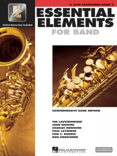 Essential Elements for Band Book 2 with EEi Eb Alto Saxophone Book Med 000862594