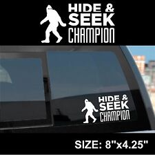 Big Foot Sasquatch Yeti Hide & Seek sticker decal white vinyl cheap fun gift