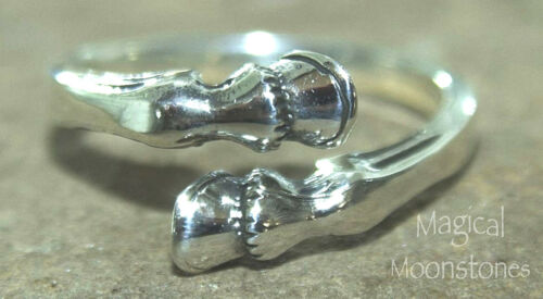 Horse Unicorn Hoof hooves Ring 925 Sterling Silver SALE  L M  N O  P Q  R S T U