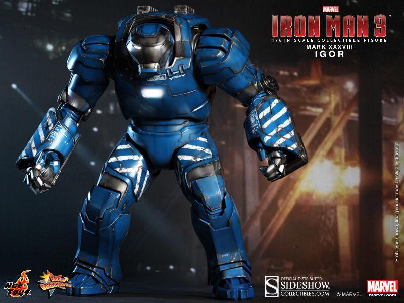 Iron Man 3 16 Inch Action Figure MMS - Iron Man - Igor - Mark XXXVIII Sideshow
