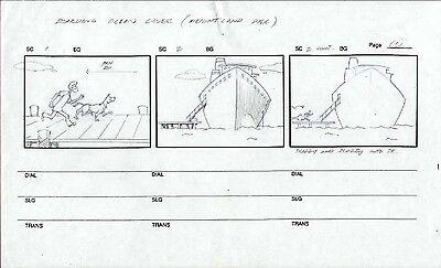SCOOBY DOO ORIGINAL ANIMATION ART PRODUCTION STORYBOARD TV DRAWING HANNA-BARBERA