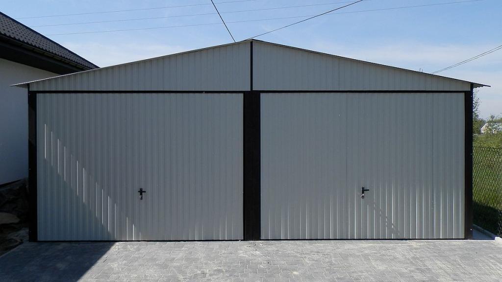 Blechgarage Blechgaragen KFZ Lager Garage Garagen Blechhalle RAL9002 5,6x5x2,55
