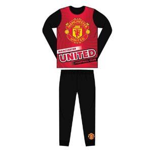 Para hombre//niños Manchester United FC Pijamas Man United Football Club Pijama Talla S