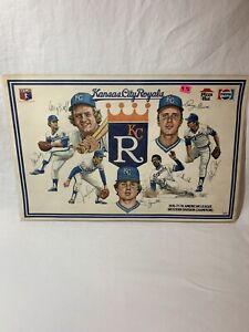 KC Royals Baseball, 76-77-78 Placemat, Pepsi-Pizza Hut. Set Of 2 Placemats