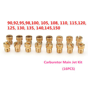16PCS-CARBURATORE-INIETTORE-UGELLO-PRINCIPALE-GETTO-KIT-PER-PWK-KEIHIN-OKO-CVK