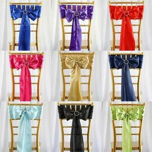 Best Quality SATIN Chair Sashes, Lot of 100pc & 50pc