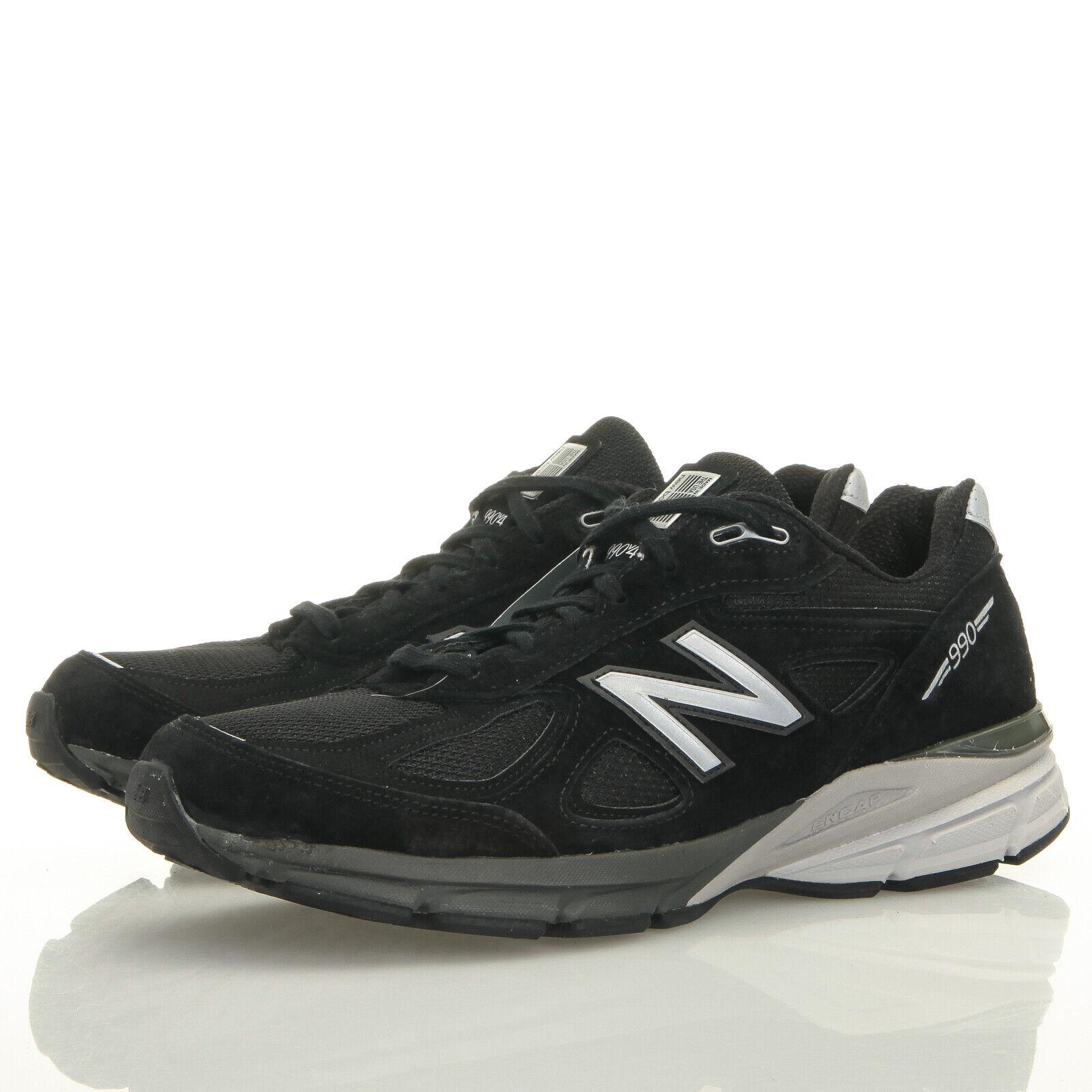 New Balance 990 v4 Noir Argent Chaussures de marche-Femme 13 B (W990BK4)