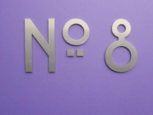 Art Nouveau-Mackintosh-Acier inoxydable maison numéros//Chiffres 6 Cm