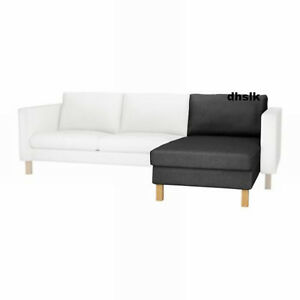 IKEA Karlstad Add-on Chaise COVER Sivik Dark Gray SLIPCOVER Grey | on futon chaise, ikea ektorp sofa chaise, ikea karlstad chair,