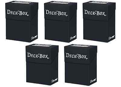 5 ULTRA PRO BLACK DECK BOXES - MAGIC YUGIOH POKEMON