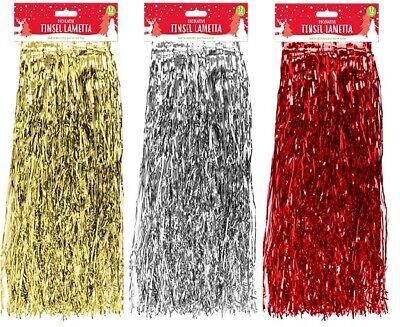 Christmas Tree Decoration LAMETTA Tinsel Angel Hair  Xmas Hanging 48cm x 1.2M