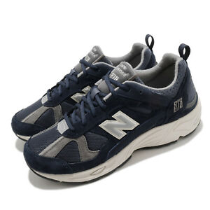 New-Balance-878-Navy-SIlver-Grey-Mens-Lifestyle-Retro-Running-Shoes-CM878KE1-D