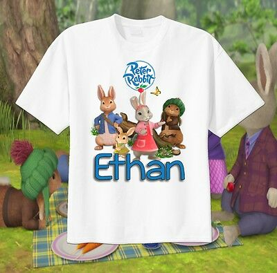 Tv show PETER RABBIT Cottontail Custom T-shirt Personalize tshirt Birthday gift