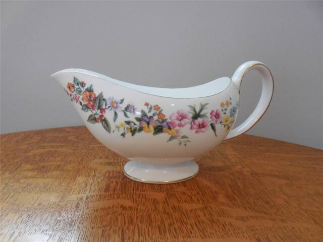 Wedgwood Downland bone china gravy or sauce boat
