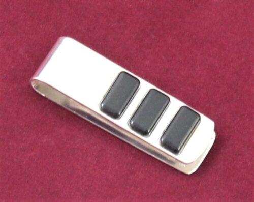 Moneyclip Geldklammer Silber 925 Massiv Mit Ebony Schmuckstück Men Made IN Italy