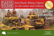 20mm BRITISH CHURCHILL TANK - PLASTIC SOLDIER COMPANY WW2 - 1/72
