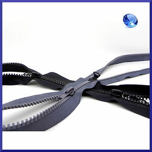 60cm-to-85cm-Twin-Sliders-X-Spiral-Coil-Zips-Type-X-Nylon-Open-Ended-Zippers