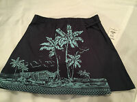 Girls Disney Store Tiki Kingdom Hawaiian Skort, Blue, Xx-small Xxs, 2/3, F/s