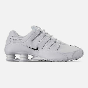 the best attitude 470d4 94875 Details about NIKE SHOX NZ MEN'S LEATHER RUNNING COLOR WHITE - BLACK BRAND  NEW IN BOX ORIGINAL