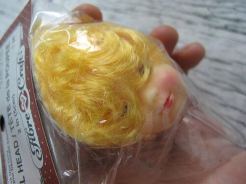 Details about  /Fibre Craft 7450 Vintage Doll Head Parts Blonde Bob Hair Girl